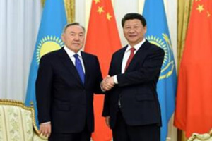 Chinese and Kazakhstan heads of state group photo