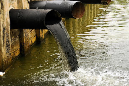 Direct discharge of waste oil