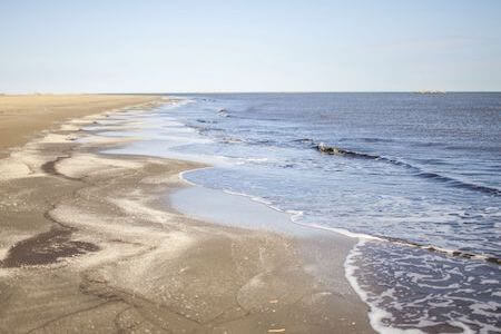 Sea polluted by waste oil