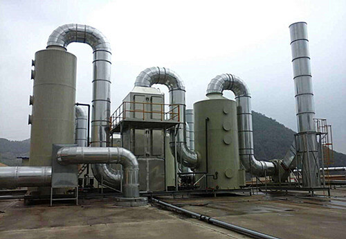 The VOC exhaust gas treatment device in operation