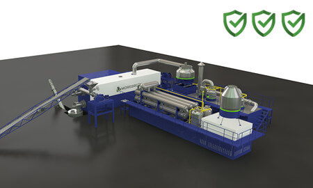 Safe continuous pyrolysis plant-MoreGreen